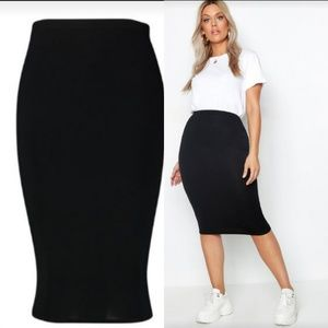 US Sz12 Jersey Knit Bodycon Skirt - BooHoo Plus